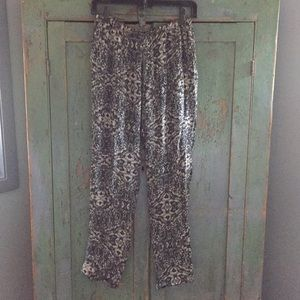Haute Hippie silk lined drawstring pants S